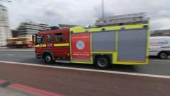 London Emergency Vehicles. Stock Footage