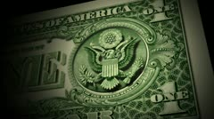 Great Seal Eagle on Dollar v2 Stock Footage