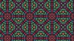 Super Psychedelic Pattern Kaleidoscope Stock Footage
