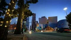 Walt Disney Concert Hall. Timelapse. Stock Footage