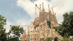 La Sagrada Familia, Barcelona Stock Footage