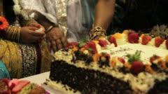 Muslim Mehndi Cake - Panning Shot HD Stock Footage