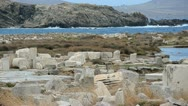 Stock Video Footage of Delos Greece, archaeological site
