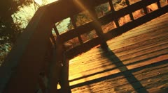 Artsy Deck wooden wood - stock footage