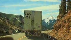 AREA 51  truck better - stock footage