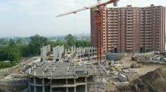 Construction the building Stock Footage