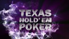 POKER HOLD'EM Text in Particle (Double Version) Blue - HD1080 Stock Footage