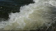 Stock Video Footage of White water motion close up