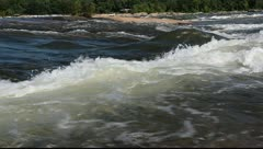 Beautiful James river rapids Stock Footage