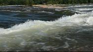 Stock Video Footage of Beautiful James river rapids