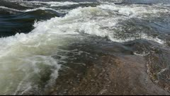River rapids and turbulence - stock footage