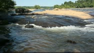 Stock Video Footage of Beautiful river cascades and ripples from low angle