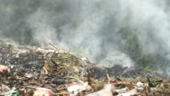 Fire, garbage Stock Footage