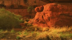 Fast dolly desert wilderness canyonlands Stock Footage