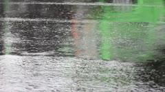 Rain, asphalt Stock Footage