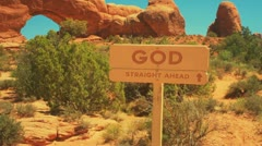 God Sign Straight ahead Stock Footage