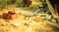 Junk Desert garbage Stock Footage
