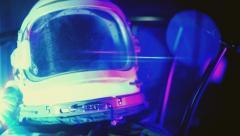 Kosmonaut helmut astronaut helmet Stock Footage