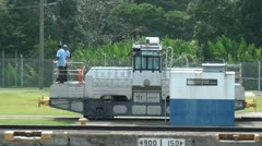 Panama Canal mules - stock footage