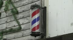 Barber Hair Dresser Sign in Japan Stock Footage