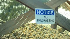 No trespassing mine old dangerous silver gold mine old abandoned Stock Footage