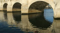 Pont neuf arches. Stock Footage