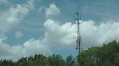 Stock Footage - Time Lapse - Cell phone - Communication Tower - Clouds Stock Footage