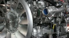 Heavy truck engine Stock Footage