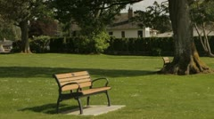 Park bench Stock Footage