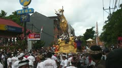 Cremation in Ubud, Bali Indonesia of the 9th king of Peliatan Stock Footage