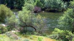 Sierra Nevada Mountain Mokelumne River Stock Footage