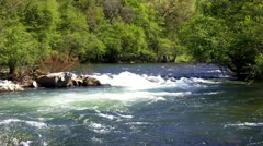 Sierra Nevada Mountain River Rapids Zoom - stock footage