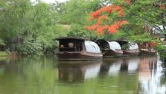 Canoe landing Stock Footage