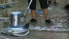 Clean the floor Stock Footage