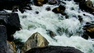 Stock Video Footage of Stanislaus Sierra Nevada Mountain River In Spring