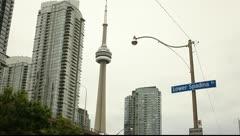 Toronto, Lower Spadina street Stock Footage