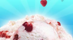 Strawberry Ice Cream Stock Footage