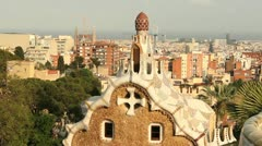 Parc Guell, Barcelona Stock Footage