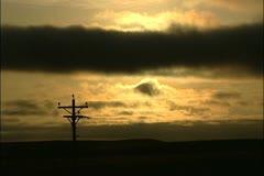 Sun Time lapse telephone pole Stock Footage