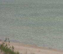 Lake Michigan beach - stock footage
