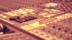 Audio Recording Console in a Music Studio Stock Footage