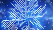 Stock Video Footage of blue growing circuit board