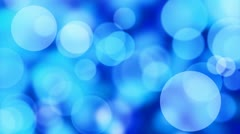 Blue slowly moving lights loop background Stock Footage