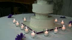 Cake Candles Stock Footage