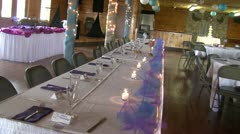 Wedding Reception Decorations Stock Footage