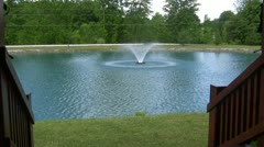 Fountain in Pond Stock Footage