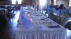 Wedding Table Stock Footage