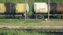 Railroad cars Stock Footage
