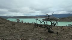 Torres del Paine burned area s4 Stock Footage
