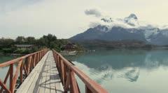 Torres del Paine Hosreria Pehoe s14 Stock Footage